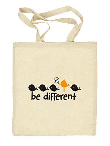 Shirtstreet24, Be Different, Natur Stoffbeutel Jute Tasche (ONE SIZE) Natur