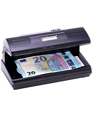 Soldi 185 Prüfgerät UV-Licht - Prüfgerät für Geldscheine, EC- und Kreditkarten Ausweisdokumente - Banknotenprüfgerät ultraviolett - kompakt für Kassenbereich - einfache Handhabung - LED (Falschgeld-scanner)