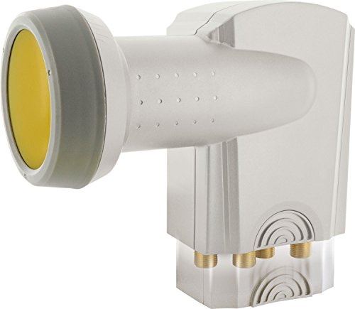 SCHWAIGER -395- Quattro LNB mit Sun Protect, digital, für Multischalter, extrem hitzebeständige LNB Kappe, Einsatz mit Satellitenschüssel, multifeed-tauglich mit Wetterschutz und vergoldeten Kontakten