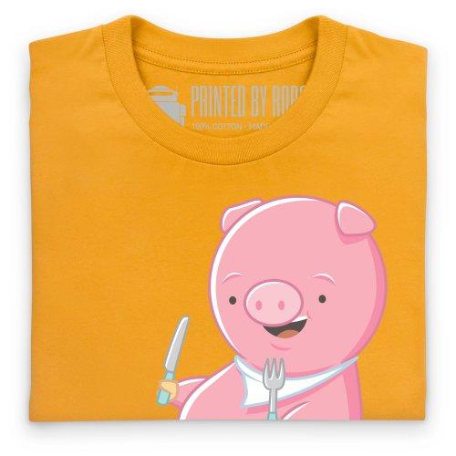 I Love Bacon T-Shirt, Damen Gelb