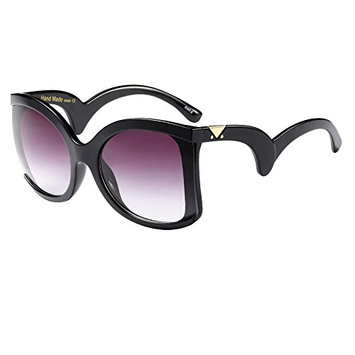 YAM DER 2019 Neu Sportbrille,Groß Frame Sonnenbrille,Kunststoff Rahmen,Polarisierte Eyewear,Sunglasses,Gläser,Anti-Blue Light,Anti-UV,Anti-Fog,Reisen,Vintage Retro Sonnenbrille,Polarisierte (B)