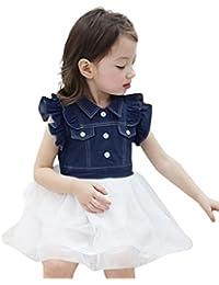 Niñas Princesa Vestido, Sonnena ❤ ❤ ❤ Niñas Mezclilla Blusas sin Manga Lindo tutú Vestido Gasa de…