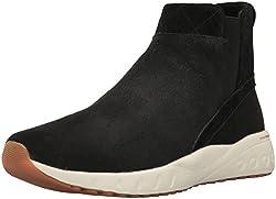 Reebok Womens Ers Deluxe Chelsea Running Shoe, Black/Classic Wht/Gold/Carotene/Ash Grey-Gum, 9. 5 M US