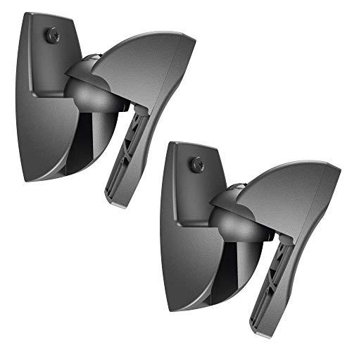 Vogel\'s VLB 500 B Lautsprecher-Wandhalterung, schwenkbar, max. 5 kg, 2 Halterungen, schwarz