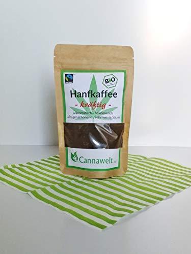 CannaWelt Bio Hanfkaffee - kräftig - magenschonend und sehr aromatisch - DE-ÖKO-039 (100g) -