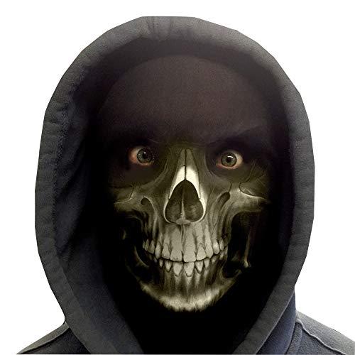 GNS Halloween Sensenmann Novelty Fun Stoff Face Maske Design Snood Gesichtsmaske hergestellt in Yorkshire ()