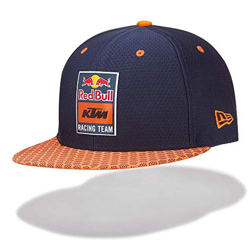 Red Bull KTM New Era 9Fifty Hex Era Flapcap, Blu Unisex Taglia Unica Cappello, KTM Factory Racing Abbigliamento & Merchandising Uff