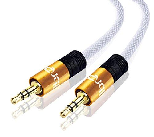 Aux Kabel Auto [ 1m ] - IBRA 3.5mm Klinkenkabel für KFZ / Heim Stereoanlagen, Kopfhörer, iPod, iPhone, iPad, Samsung, MP3 Player und mehr
