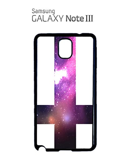 Inverted Cross Galaxy Mobile Cell Phone Case Samsung Note 3 Black Noir