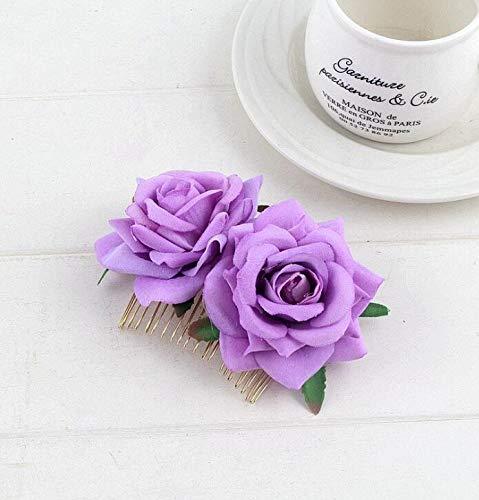 Frauen Rose Blume Haarspange Rose Haarschmuck Hochzeit Haarspange Flamenco Tänzer Frauen Rose Blume Haarspange Rose Haarschmuck Hochzeit Haarspange Flamenco Tänzer...