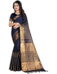 SATYAM WEAVES WOMEN'S ETHNIC WEAR BANARASI PLAIN ART SILK SAREE.(SATLUJ)