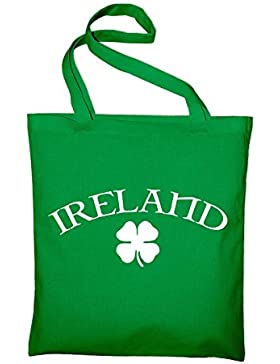 Ireland Irland St Patrick's Day Jutebeutel, Beutel, Stoffbeutel, Baumwolltasche