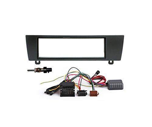 1 DIN Einbaukit Basic CAN für BMW 1er Serie E81, E82, E87, E88 und 3er Serie E90, E91, E92, E93 - inkl. 1 DIN Blende, Anschlusskabel, Antennenadapter und CAN Bus Adapter
