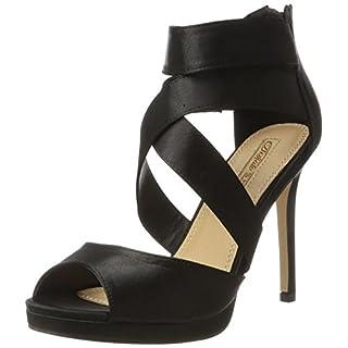 Buffalo Shoes Damen 316055 Satin CH 1# Riemchensandalen, Schwarz (Black 01), 39 EU