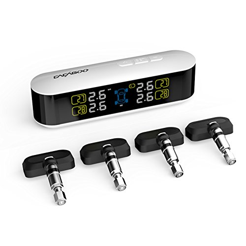 CACAGOO Car TPMS Reifendruckkontrollsystem Reifendruckprüfer Reifendruckmesser 4 Interne Sensoren Farb LCD Display Tire Pressure Monitor System