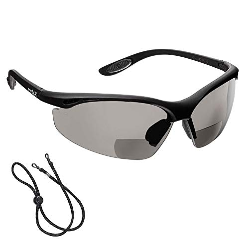 cfcd12885518 voltX  CONSTRUCTOR  BIFOCAL Reading Safety Glasses (SMOKE GRAY +2.0 Dioptre)