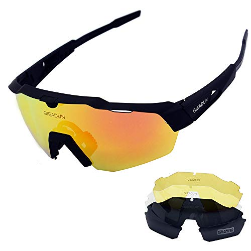 861f0354d76 Sports Sunglasses Protection Cycling Glasses With 4 Interchangeable Lenses  Polarized UV400 for Cycling Baseball