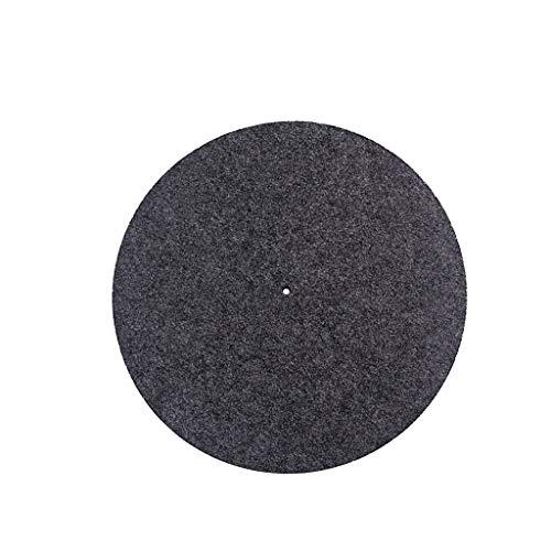 CarJTY Plattenteller Wolle Matte 11,8 Zoll Pad Anti-Statik-LP-Player Anti-Vibration ✮ Schallplattenspieler Zubehör Wollunterlage - Plattenspieler-matte Leder