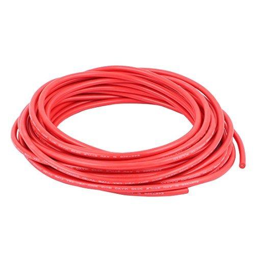 DealMux 10M 32.8ft 14AWG 30KV Elektrische Kupferkern flexible Silikon-Draht-Kabel-Rot