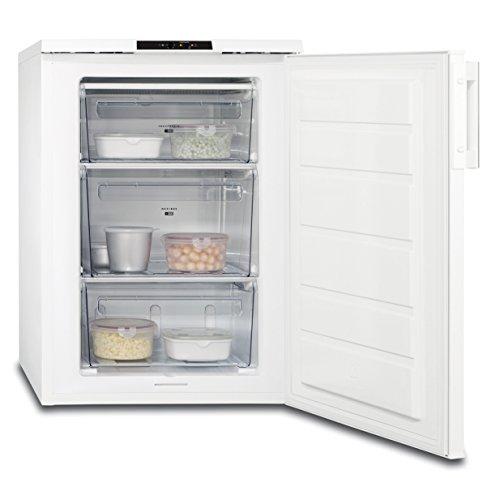 AEG ATB81121AW Gefrierschrank / freistehender Tiefkühlschrank mit Frostmatik für schnelles Einfrieren / 90 Liter Gefrierfach mit Temperaturalarm / energieeffizienter Gefrierschrank / A++ (144 kWh/Jahr) / Höhe: 85 cm / weiß