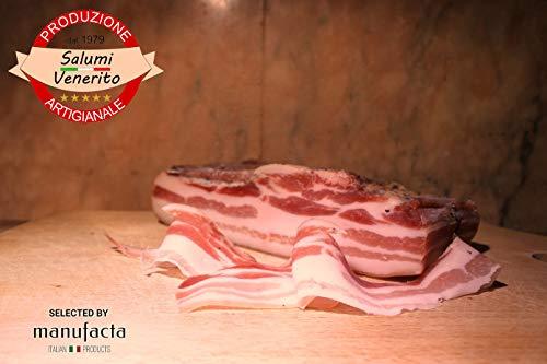 Pancetta tesa | Made in Italy da produttore di eccellenza di Puglia | trancio 400gr