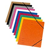 Herlitz 11166816 Eckspanner A4 Colorspan, 355 g/qm, 10er Packung (Farben sortiert)