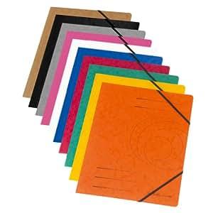 Herlitz  11166816 Colorspan Chemise à cordon élastique A4 Carton 355 g/m² Coloris assortis Lot de 10