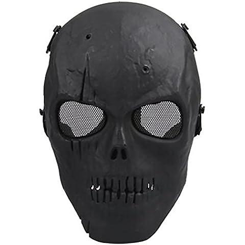 Máscara de calavera de cabeza completa Airsoft, máscara de protección militar, Hombre, style01, talla única