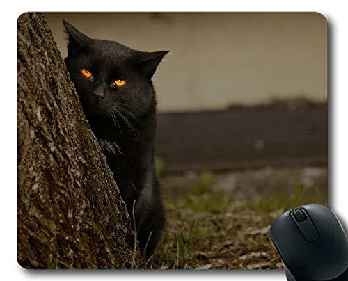 e Augen aus Holz Katzen-Mauspad, Mauspad für Computer cat229 ()