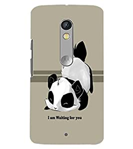 PrintDhaba CUTE DOG D-6558 Back Case Cover for MOTOROLA MOTO X PLAY (Multi-Coloured)