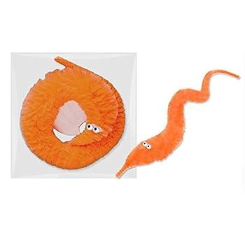 RICISUNG 6pcs Chenilles Magiques Jouets Faveurs de Partie Carnaval (Orange)
