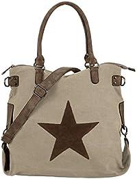 Bolso XL (45 x 37 cm), tejido de tela, diseño con estrella