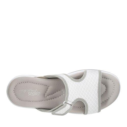 Easy Street Garbo Damen Maschenweite Sandale White/Grey