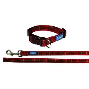 Dog-Co-Tartan-Red-Dog-Collar-and-Lead-34-x-14-1819-x-35-45cm-48120cm