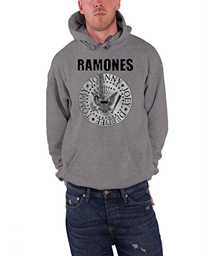 (Ramones Presidential Seal offiziell Herren Nue Grau Pullover Kapuzenpullover)