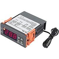 Digitaler Temperaturregler,Asixx STC-1000 Temperature Controller Thermostat mit Sensor für Aquarium, Terrarien, Zoo, Paludarium, Hühnerbrutkasten