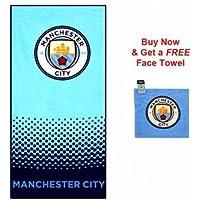 Manchester City Crest Towel & Free Face Towel