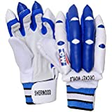 CW Sherwood Premium Qualiy PVC / Leather Made Cricket Batting Gloves For Right Handed Batsmen Available In Small Boy /Boy/ Youth & Men Size (Ideal For 5 To 13+ Yr Players )