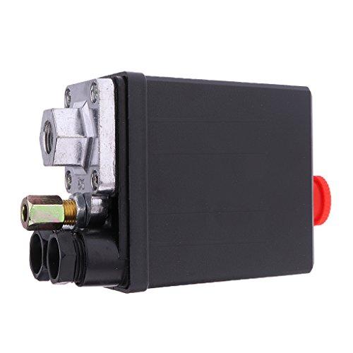 Valvola pressostato aria compressa 240V 16A 175PSI, colore: nero