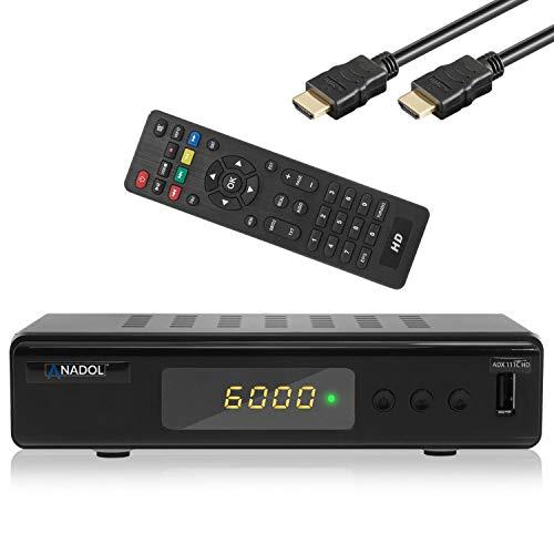 Anadol ADX 111c HD digitaler Full HD Kabel-Receiver (HDTV, DVB-C / C2, HDMI, SCART, Mediaplayer, USB 2.0, 1080p) [automatische Installation] - schwarz Hdmi-kabel Installation