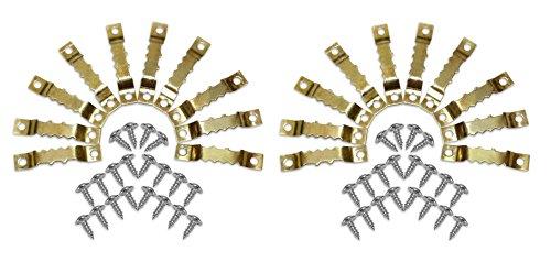 Close Up Bildaufhänger 20 Stück inkl. 40 Schrauben - für Holzrahmen, Bilderrahmen, Keilrahmen und Wechselrahmen