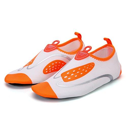 Sapatos Surf Do Senhoras Flutuantes Praia Aqua Sapatos Laranja Deslizamento Homens Unissex Para Crianças Sapatos De De Respirável CTqntU
