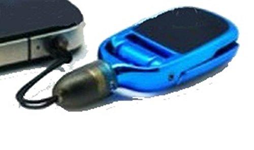 Mini Touchpen mit Standfunktion und Staubschutz 3in1 Stand Haletrung Halter Display Antistatik Putztuch Kopfhörer Klinke Stecker Tischständer Anhänger für Archos, Asus Fonepad, Asus Padfone, Asus ZenFone, Audioline (Blau)