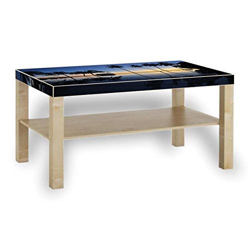 Printalio - Palmen und Pool - Möbelaufkleber für IKEA Lack 90x55cm Beistelltisch bekleben Fotomotivaufkleber | Fotosticker Bedruckt (Pool-tisch Lack)