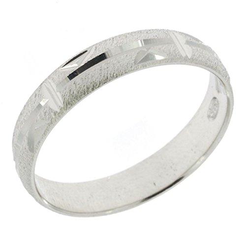 644ae861300817 Anello in argento Sterling 925 fedina lavorata motivo triangoli  fidanzamento donna uomo - 20