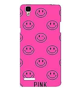 EPICCASE Pink Smiley Mobile Back Case Cover For Oppo F1 (Designer Case)