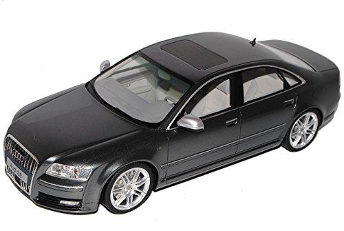 Audi A8 S8 D3 Daytona Grau Limousine 2. Generation 2002-2010 Nr 205 1/18 Otto Modell Auto mit individiuellem Wunschkennzeichen (S8 Modell Audi)