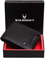 WildHorn® RFID Protected  Genuine High Quality Leather Wallet for