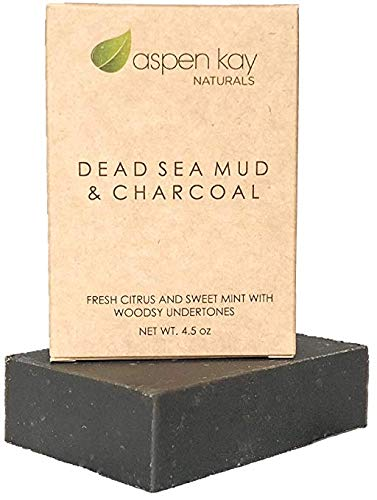 Natural Soap Bar (Dead Sea Mud Soap Bar 100% Organic & Natural. With Activated Charcoal & Therapeutic Grade Essential Oils. Face Soap or Body Soap. For Men, Women & Teens. Chemical Free. 4.5oz Bar by Aspen Kay Naturals)