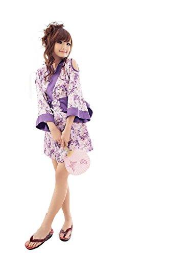 YTB La Biancheria Sexy Delle Donne / Uniformi Soddisfare Kimono Giapponesi ,i fiori viola